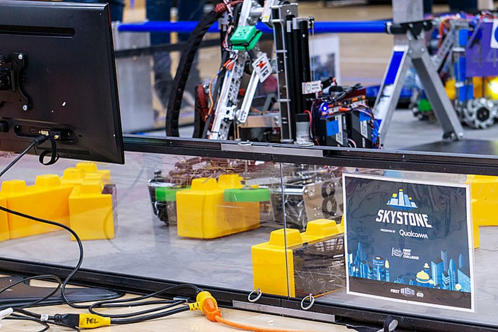 ACME Robotics' robot competes on the field at an event last season.