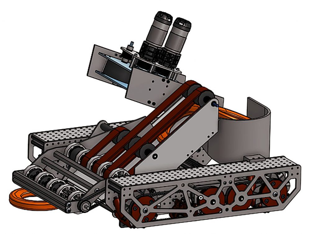This digital model is of the team's design for this season's robot.