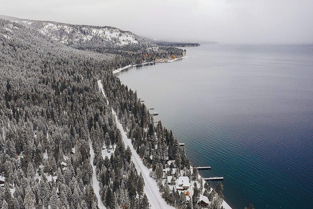 Homewood Mountain Resort received 5 inches of snow at its base.