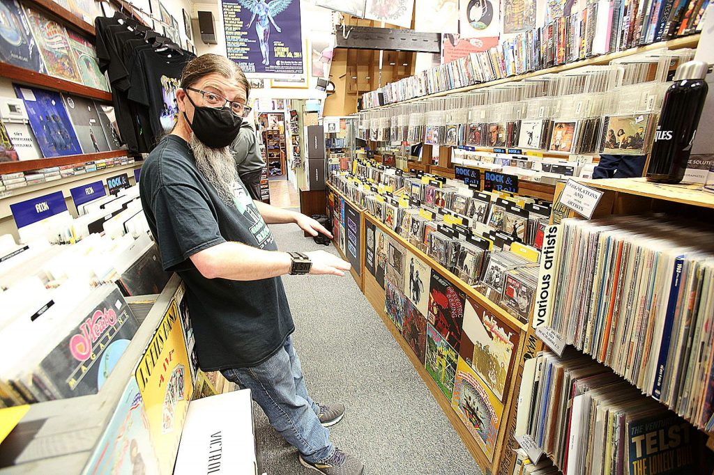 Clocktower Records is open once again in downtown Grass Valley, with familiar face Karl Lanquist available to help people find music memorabilia and records.