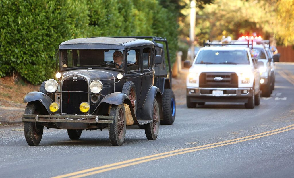 Vehicles of all makes and models rolled down Butler Street Thursday to wish Skyler Monahan-Tonti a happy birthday.