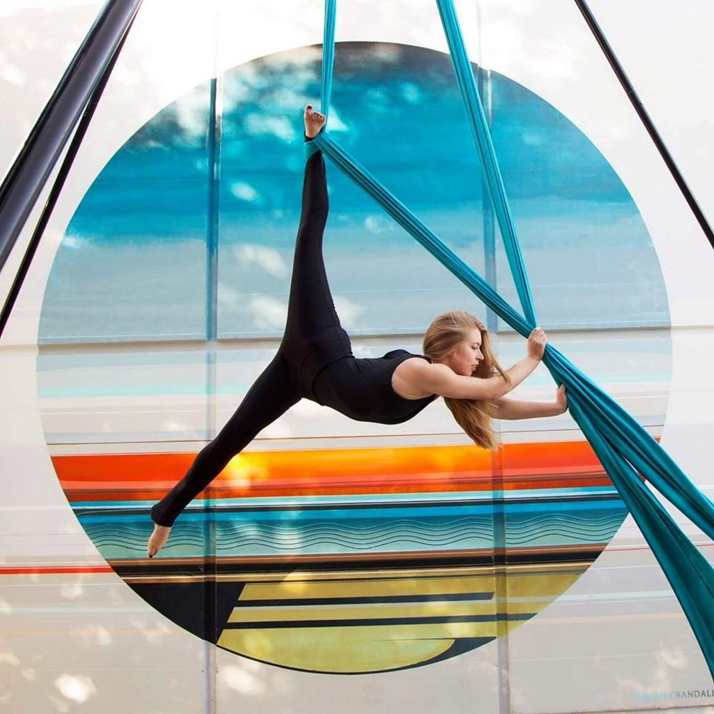 AirAligned teaches and performs as a theatrical aerial dance group. For Family Fun Day, viewers will enjoy a winter-themed performance by students who recently completed our Fall Aerial Class here at The Center.