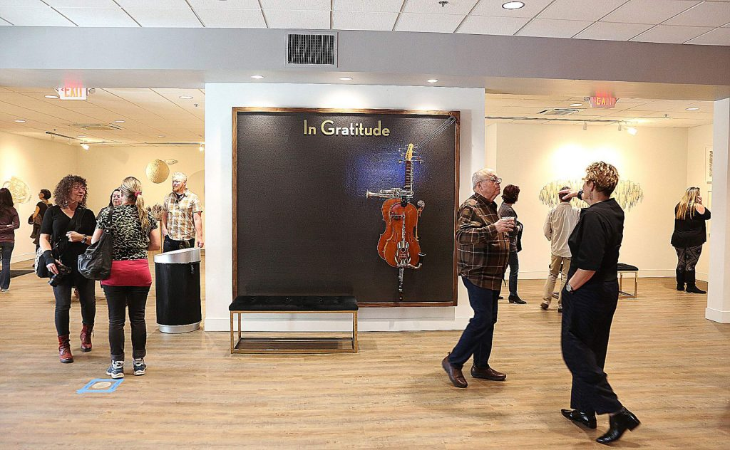 A donor wall will eventually have recognitions to donors of The Center For the Arts.