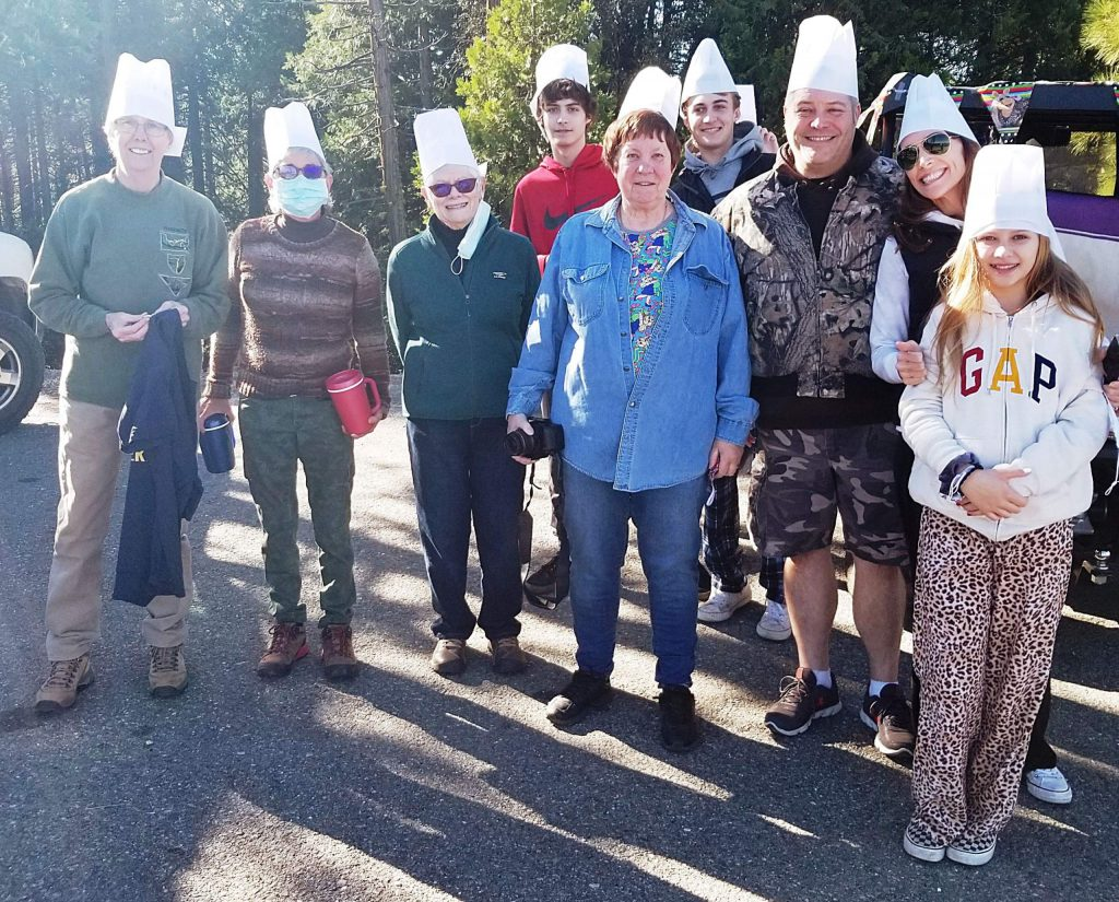 Tourist contingents from the East Bay and Central Valley joined the fun, some sporting white chef's toques.