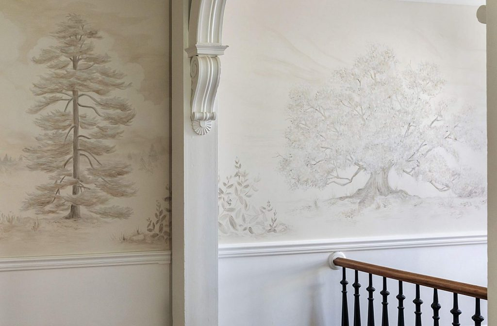 A detail of local trees in the stairwell of the Holbrooke Hotel.
